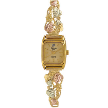 jcpenney.com | Black Hills Gold® Womens Gold-Tone Vineyard Watch