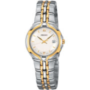 Seiko® Womens Two-Tone Watch SXD646