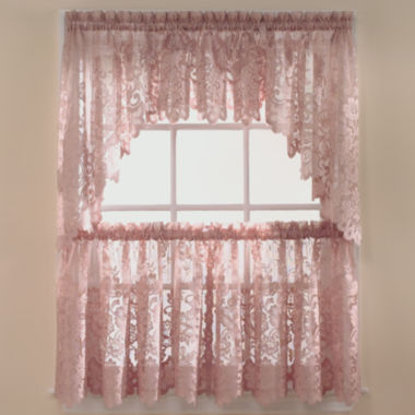 jcpenney.com | JCPenney Home™ Shari Lace Rod-Pocket Shaped Valance