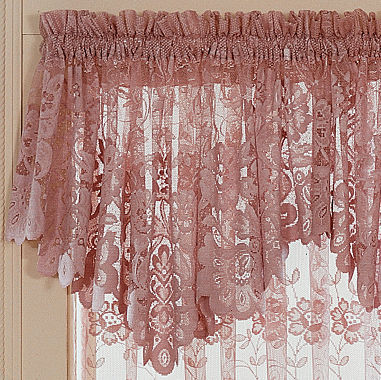 Window Treatment jcpenney valances window treatments : jcp home Shari Lace Rod Pocket Ascot Valance