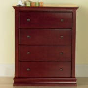 Savanna Tori 4-Drawer Dresser - Cherry
