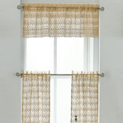 jcp home™ Parisian Rod-Pocket Window Tiers