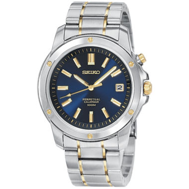 jcpenney.com | Seiko® Mens Perpetual Calendar Two-Tone Watch SNQ010