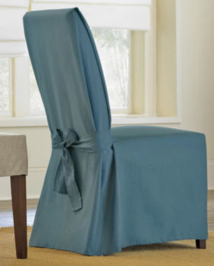 jcpenney.com | SURE FIT® Cotton Duck Dining Chair Slipcover - Long
