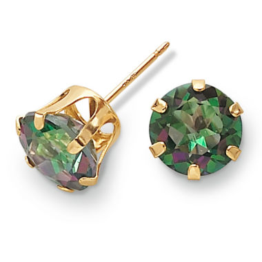 jcpenney.com | 10K Gold Mystic Fire Topaz Stud Earrings