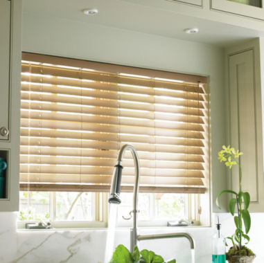 "jcpenney.com | JCPenney Home™ Custom 2"" Smart Faux-Wood Horizontal Blinds"