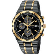 Seiko® Men's TiCN Chronograph Watch