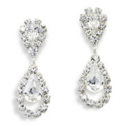 Vieste Rhinestone Drop Earrings