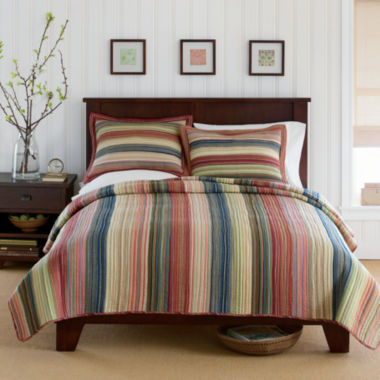 jcpenney.com | Jewel Retro Chic Cotton Striped Quilt & Accessories