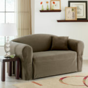 Maytex Collin Stretch 1-piece Loveseat Slipcover