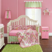 My Baby Sam Pink Paisley Splash Bedding & Accessories