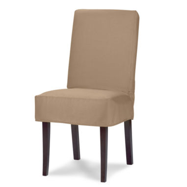 jcpenney.com | SURE FIT® Cotton Duck Dining Chair Slipcover - Short
