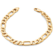 "10K Yellow Gold 5mm 9"" Hollow Figaro Bracelet"