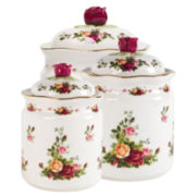 Royal Albert® Old Country Roses Set of 3 Canisters