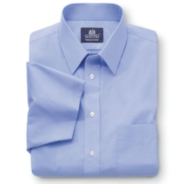 jcpenney.com | Stafford® Travel Short-Sleeve Easy-Care Broadcloth Shirt–Big & Tall