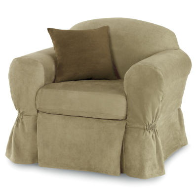 jcpenney.com | Maytex Smart Cover® Stretch Suede 2-pc. Chair Slipcover