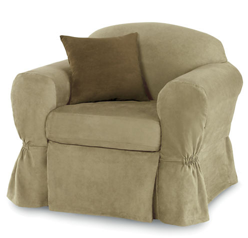 Maytex Smart Cover® Stretch Suede 2-pc. Chair Slipcover