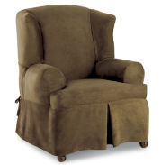 Maytex Smart Cover® Stretch Suede 1-pc. Wing Chair Slipcover
