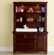 Bedford Monterey Changing Table or Hutch - Cherry