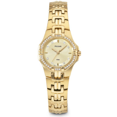 jcpenney.com | Pulsar® Womens Gold-Tone Dress Watch PTC390
