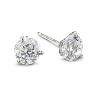jcpenney.com | DiamonArt® Sterling Silver 3 CT. T.W. Cubic Zirconia Stud Earrings