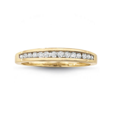 jcpenney.com | 1/4 CT. T.W. Diamond 10K Gold Wedding Band