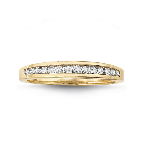 tw diamond 10k gold wedding band - Jcpenney Wedding Rings