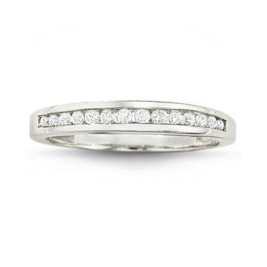 jcpenney.com | 1/4 CT. T.W. Diamond 10K White Gold Band