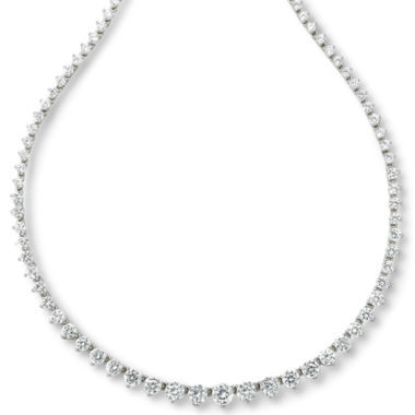 jcpenney.com | DiamonArt® Sterling Silver Cubic Zirconia Graduated Link Necklace