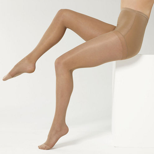 Sheer Caress™ 2-pk. Total Support Pantyhose - Queen