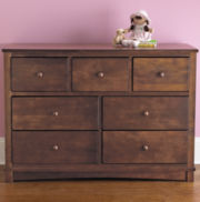 Rockland Renew 7-Drawer Dresser - Coffee