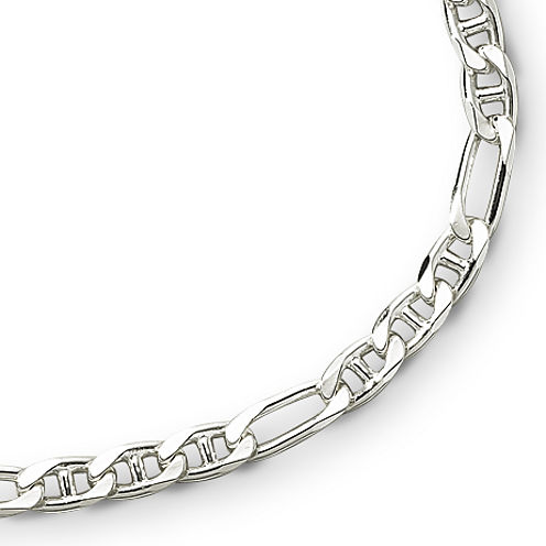 "Made in Italy Sterling Silver 22"" Figarucci Chain"