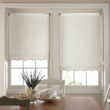jcpenney.com | JCPenney Home™ Savannah Cut-to-Width Fringed Thermal Roller Shade - FREE SWATCH