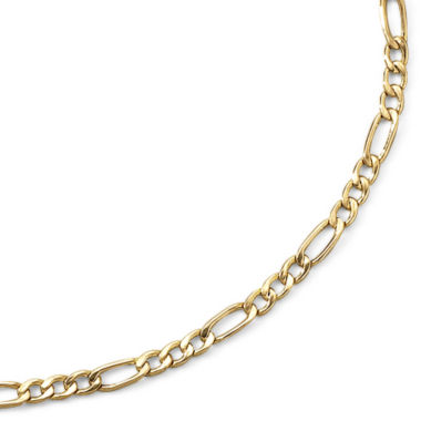 "jcpenney.com | 10K Yellow Gold 3.9mm 20-22"" Hollow Figaro Chain"