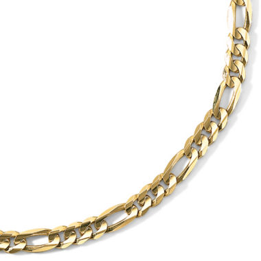 "jcpenney.com | Men's 10K Gold 22"" 6.5mm Figaro Necklace"