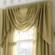 jcp home™ Sensations Rod-Pocket Semi-Sheer Swag Valance