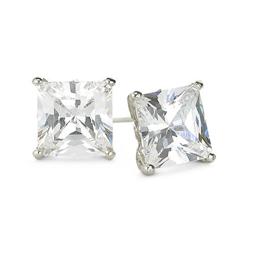 DiamonArt® Sterling Silver 2⅜ CT. T.W. Cubic Zirconia Stud Earrings