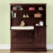 Savanna Tori Changing Table or Hutch - Espresso