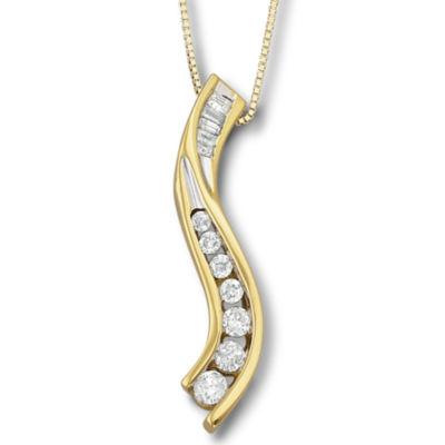 14 cttw 14ksilver diamond journey pendant necklace jcpenney tw 14ksilver diamond journey pendant necklace aloadofball Images