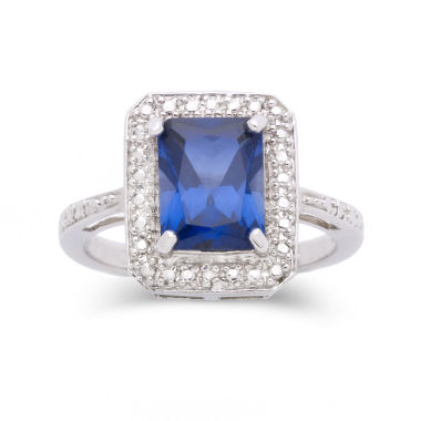 jcpenney.com | Lab-Created Sapphire & Diamond-Accent Ring