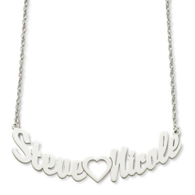 jcpenney.com | Personalized Sterling Silver Couples Name Necklace