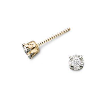 jcpenney.com | 1/8 CT. T.W. Diamond Stud Earrings 10K Gold