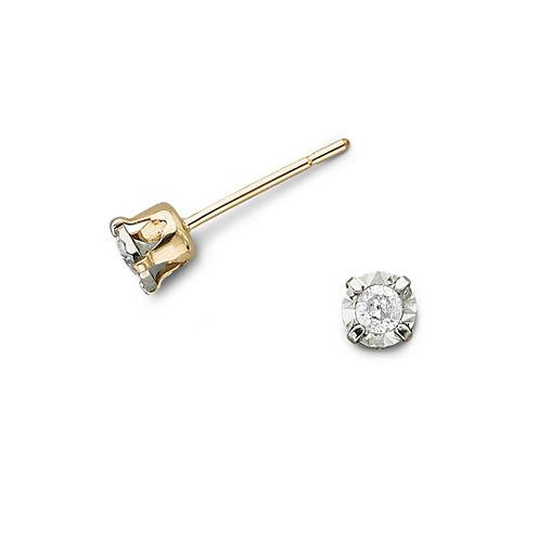 1/8 CT. T.W. Diamond Stud Earrings 10K Gold