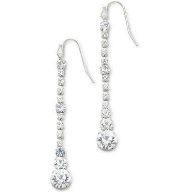 jcpenney.com | Vieste® Crystal Graduated Linear Earrings