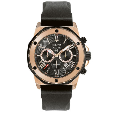 jcpenney.com | Bulova® Mens Black & Rose Gold-Tone Chronograph Sport Watch 98B104