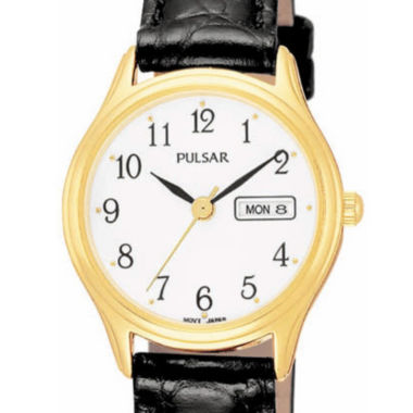 jcpenney.com | Pulsar® Womens Leather Strap Watch