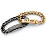 Men's Stainless Steel Name Bracelet