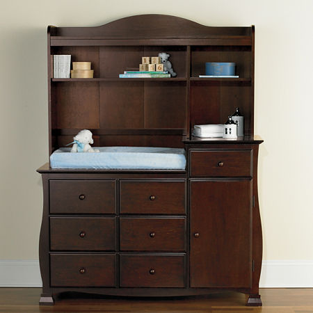 Savanna Bella Changing Table or Hutch - Espresso