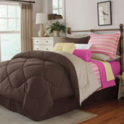 Home Expressions Cotton Reversible Chocolate King Comforter