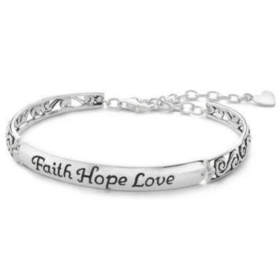 Inspired Moments Silver Faith Hope Love Bracelet